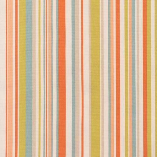Gordon Smith Funky Stripe Coral Curtain Fabric