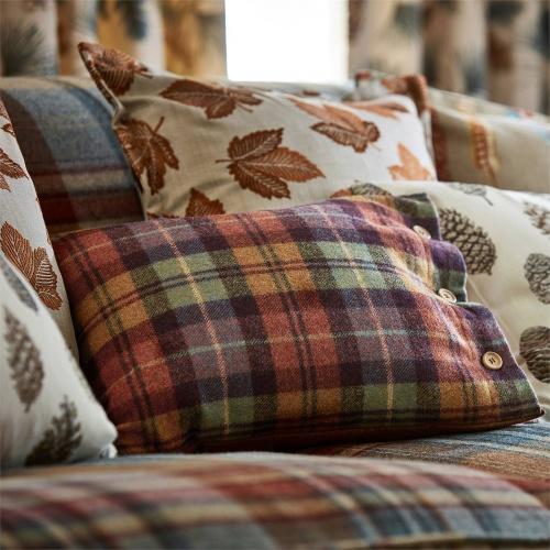 Sanderson Fenton Check Check Russet/Amber Fabric 236742