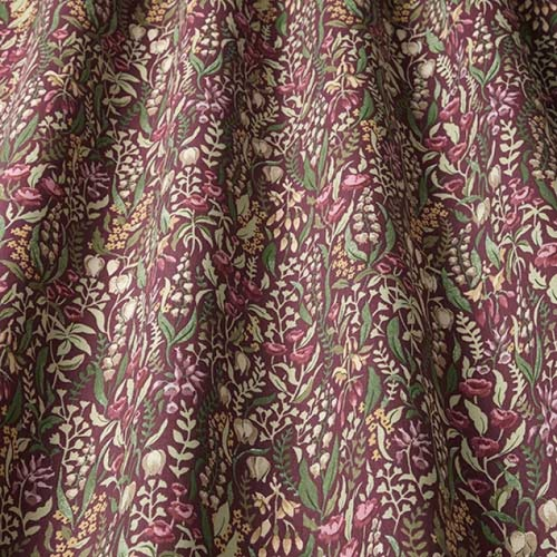 Swatch Box Kelmscott Claret Curtain Fabric