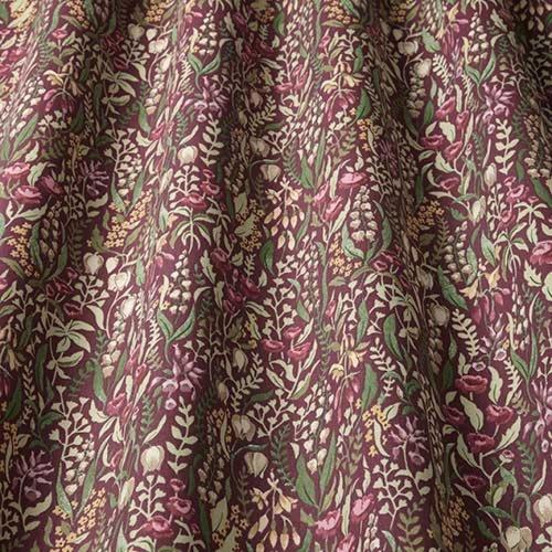 Swatch Box Kelmscott Claret Curtain Fabric
