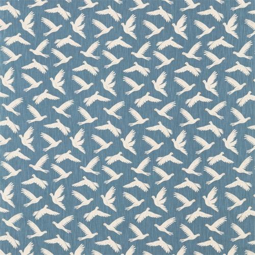 Sanderson Home Paper Doves Denim Fabric 226352