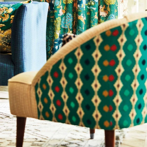 Sanderson Mossi Sage Fabric 236889