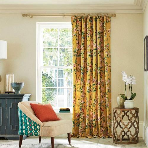 Sanderson Andhara Saffron/Teal Fabric 226633