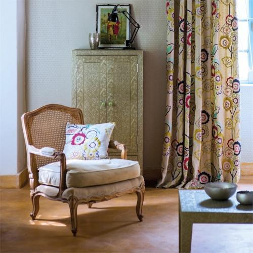 Harlequin Eden Claret/Amethyst Curtain Fabric 131083