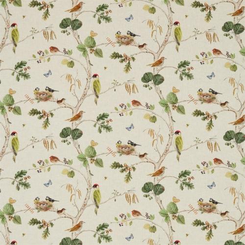 Sanderson Woodland Chorus Linen/Multi Fabric 225511
