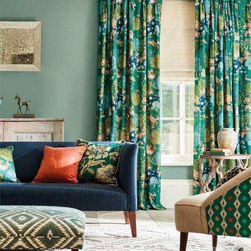 Sanderson Pamir Garden Garden Teal Fabric 226651