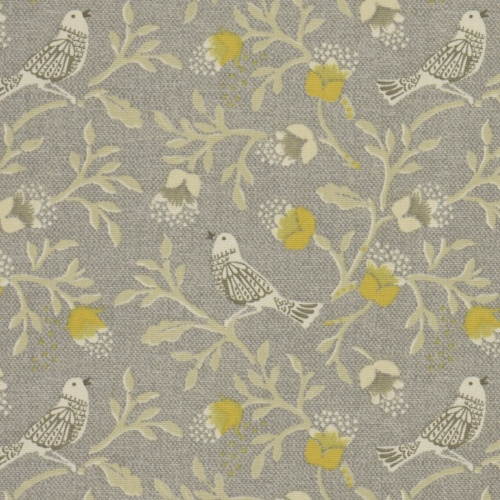 Gordon Smith Tweet Grey Curtain Fabric