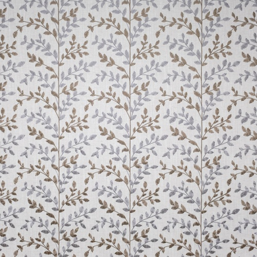 Fibre Naturelle Zoe Peanut / Mink Curtain Fabric ZOE/02
