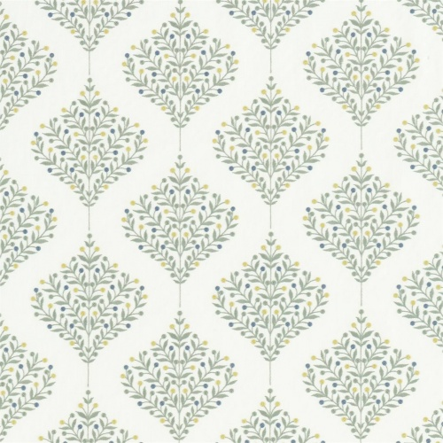 Sanderson Orchard Tree Gardenia Green Fabric 237184