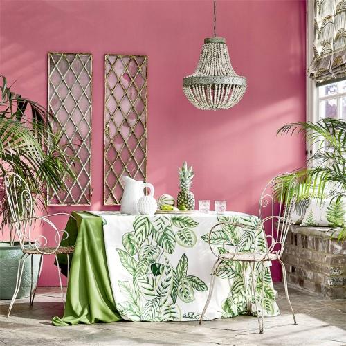 Sanderson Calathea Botanical Green Fabric 226575