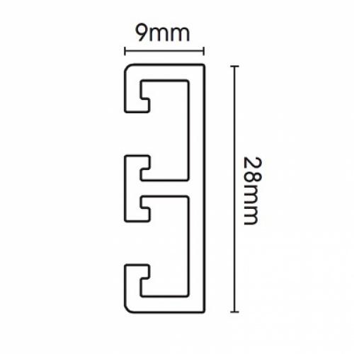 Swish Deluxe White PVC Track 125cm