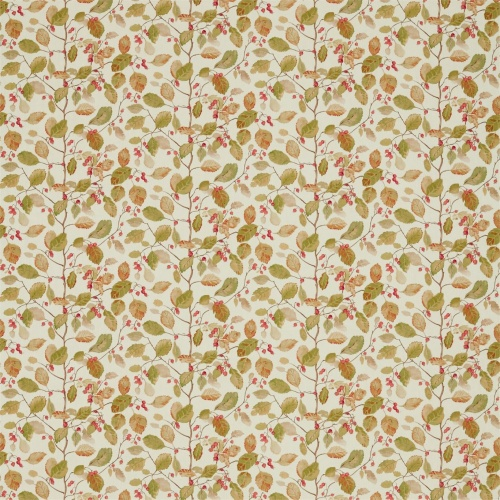 Sanderson Woodland Berries Rosehip/Moss Fabric 225530