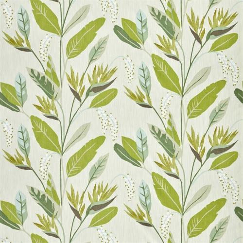Harlequin Llenya Lime/Jade/Pebble Curtain Fabric 120908