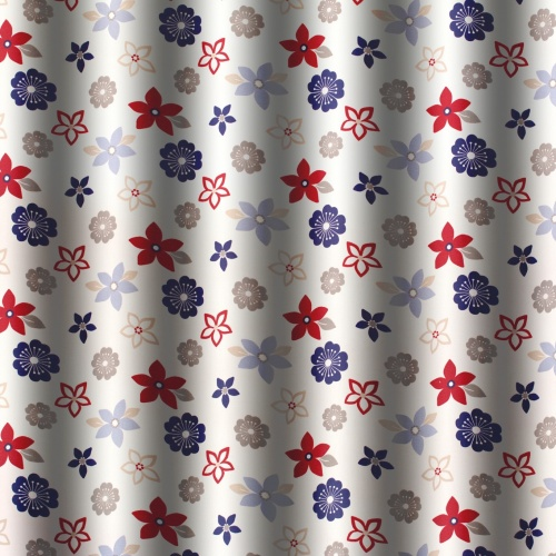 Gordon Smith Funky Flowers Blue Fabric