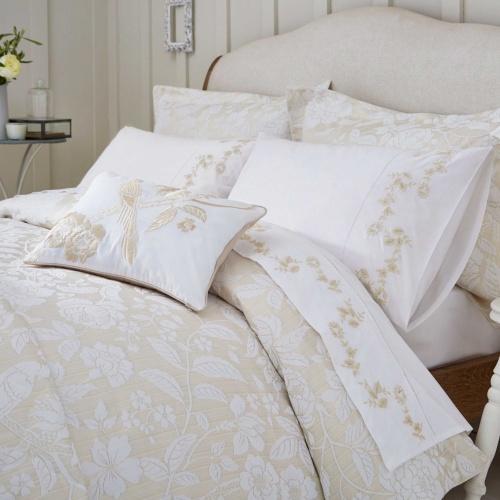 Sanderson Pyramus Double Duvet Cover Set Linen