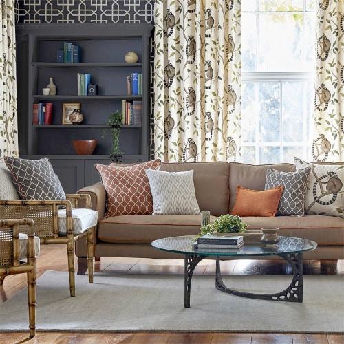 Sanderson Botanic Trellis Flint Fabric 236793