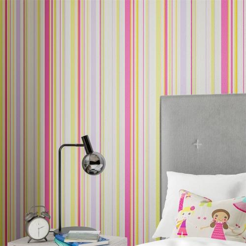 Harlequin Rush Fuchsia/Apple/Lilac/Neutrals Wallpaper 112658