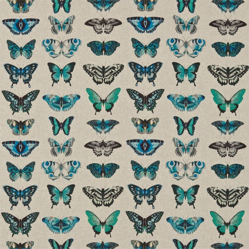 Harlequin Papilio Lagoon/Indigo/Emerald Curtain Fabric 120343