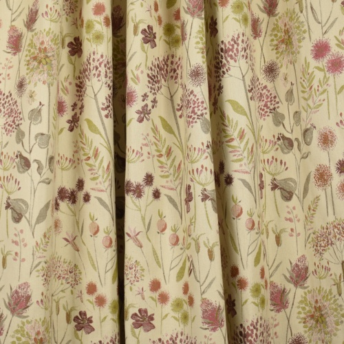 Voyage Flora Cream Summer Curtain Fabric
