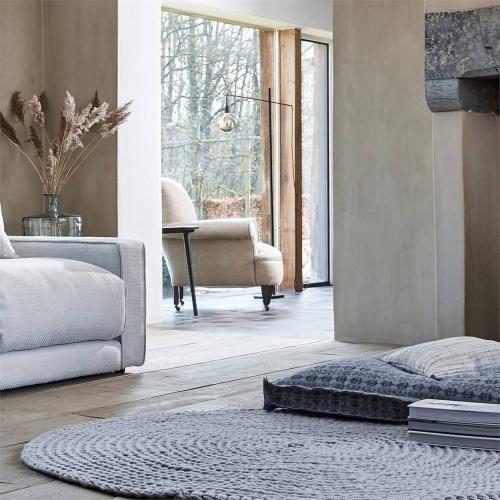 Morris & Co Pure Fota Wool Inky Grey Fabric 236608