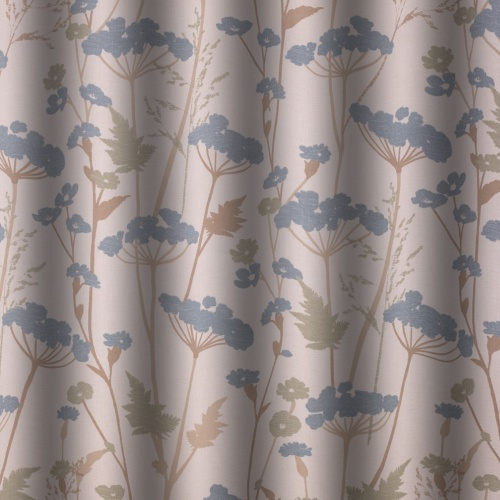 Gordon Smith Parsley Duck Egg Curtain Fabric