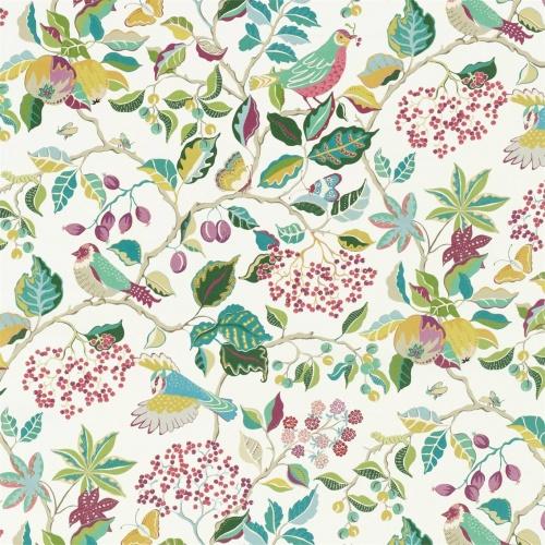 Sanderson Birds & Berries Fern Fabric 226730