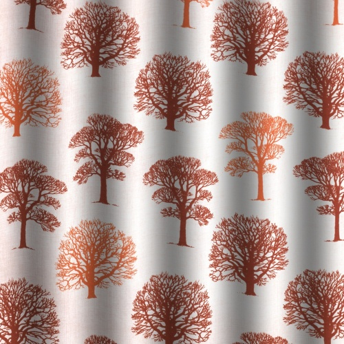 Gordon Smith Oak Terracotta Curtain Fabric