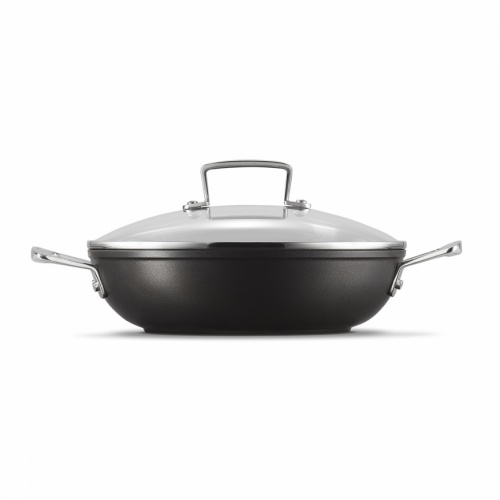 Le Creuset NEW Toughened Non-Stick 26cm Shallow Casserole with Glass Lid