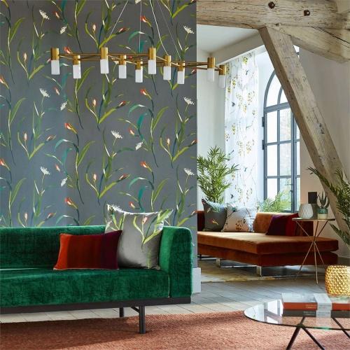Harlequin Saona Kiwi/Charcoal Wallpaper 111758