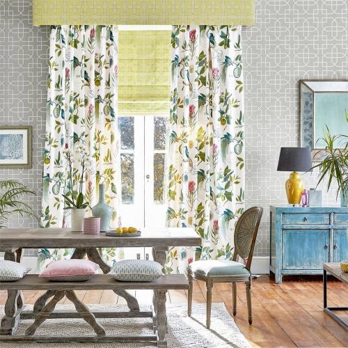 Sanderson Paradesia Botanical Green Fabric 226563