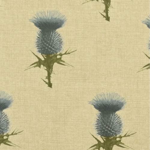 Gordon Smith Thistle Duck Egg Curtain Fabric