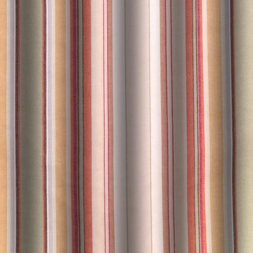 Gordon Smith Chunky Stripe Brique Curtain Fabric