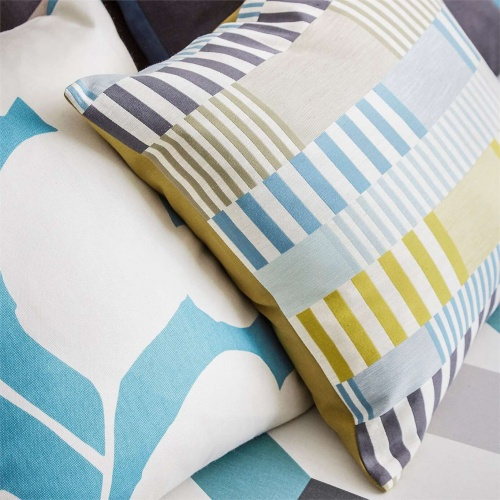 Scion Cerro Marine/Kiwi/Midnight Blue Curtain Fabric 132636