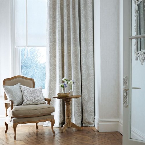 Harlequin Odetta Smoked Oyster Curtain Fabric 131574