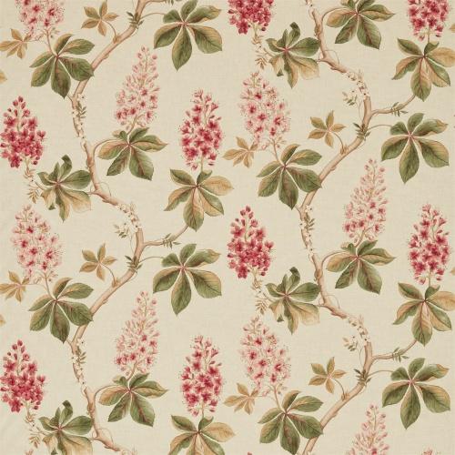Sanderson Chestnut Tree Coral/Bayleaf Fabric 225517