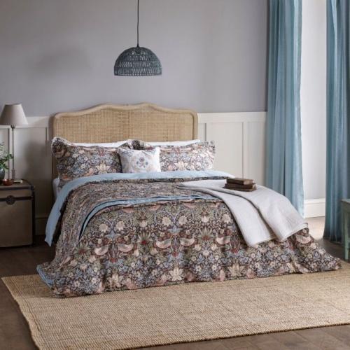 William Morris Strawberry Thief Brown Oxford Pillowcase