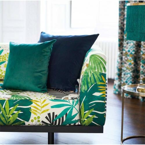 Harlequin Solana Ebony/Zest/Marine Curtain Fabric 120824