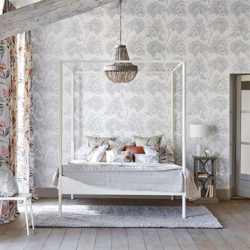 Harlequin Bavero Shimmer Silver Wallpaper 111778