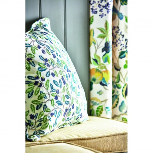 Sanderson Wild Berries Blueberry/Sage Fabric 226745