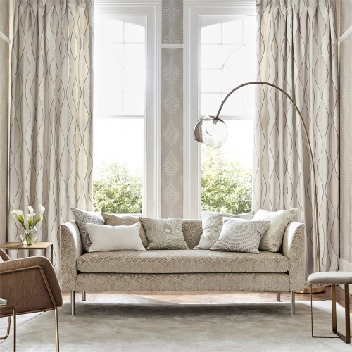 Harlequin Dentella Brass Curtain Fabric 132680