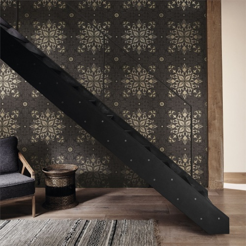 Morris & Co Pure Net Ceiling Charcoal/Gold Wallpaper 216036
