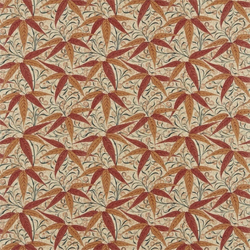 Morris & Co Bamboo Russet/Siena Curtain Fabric 222527