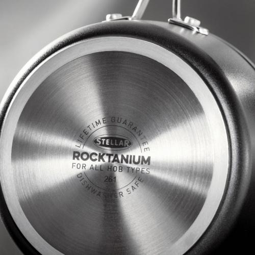Stellar Rocktanium 3pce Saucepan Set