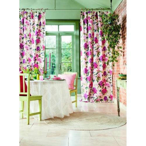 Sanderson Summer Peony Fuchshia/Rose Fabric 226748