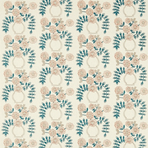 Sanderson Home Flower Pot Brick Curtain Fabric 235876
