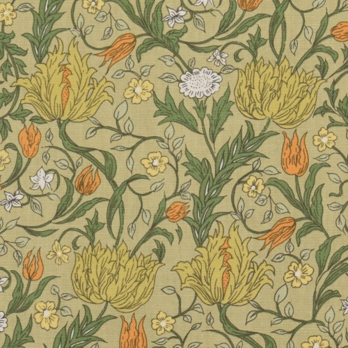 Gordon Smith Wild Tulip Mini Green Curtain Fabric