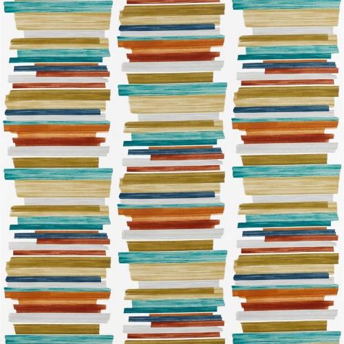 Harlequin Calcine Paprika / Teal / Olive Curtain Fabric 120806