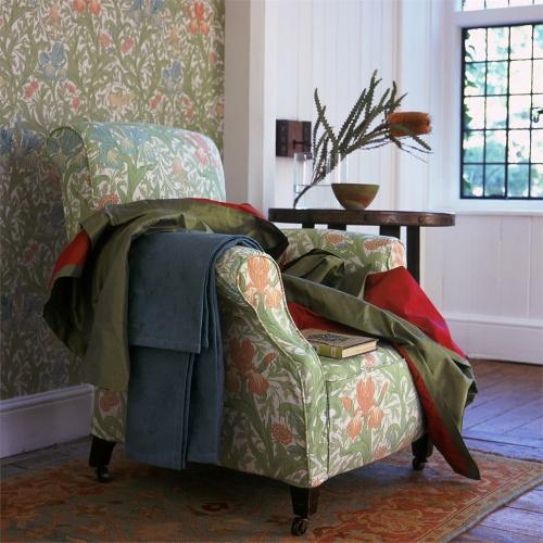 Morris & Co Iris Floral and Botanical Curtain Fabric PR8042/1