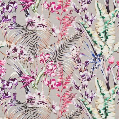 Harlequin Paradise Loganberry/Raspberry/Emerald Curtain Fabric 120352