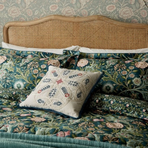 William Morris Wilhelmina Oxford Pillowcase Teal